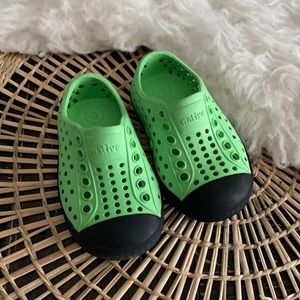 Toddler infant green black Native water shoes